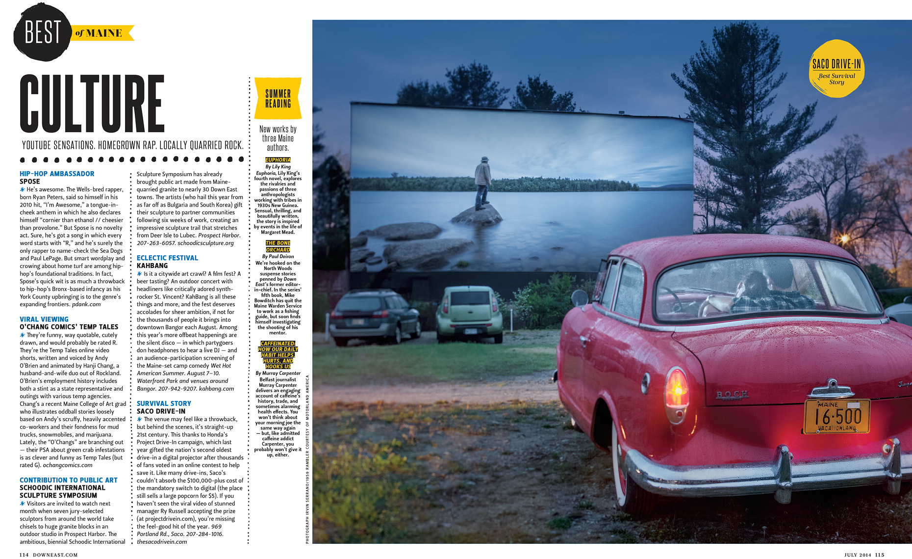 DownEast Magazine Drive In
