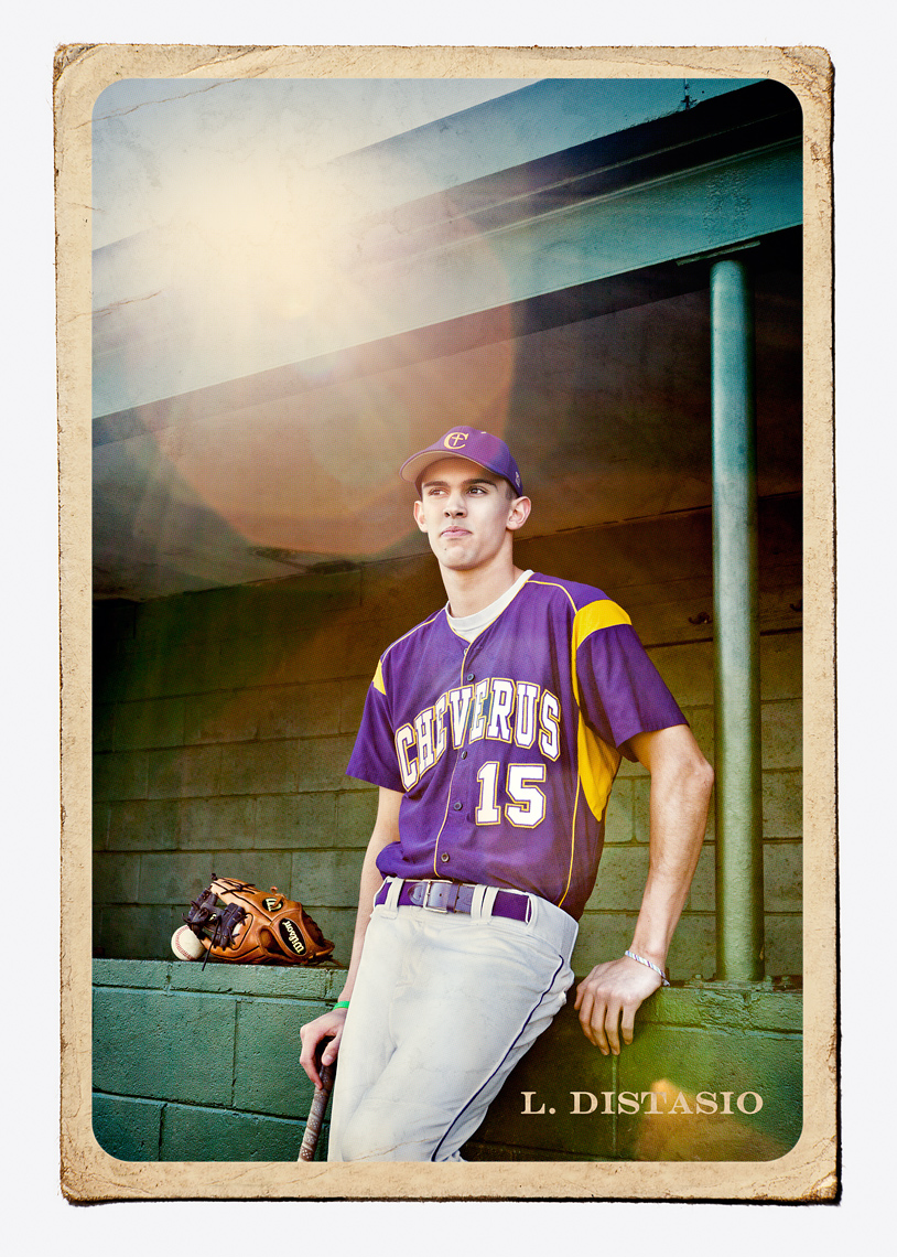 Portrait Of High School Baseball Player